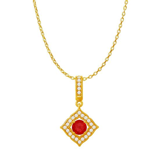 Preload https://img-static.tradesy.com/item/23999939/red-ruby-cz-square-halo-pendant-in-18k-yellow-gold-vermeil-necklace-0-0-540-540.jpg