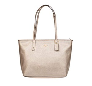 Coach Shoulder Satchel Tote in Platinum/Gold