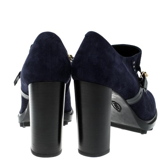 Tod's Oxford Suede Blue Boots