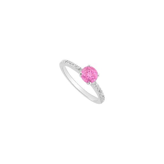 Preload https://img-static.tradesy.com/item/23999981/white-pink-created-sapphire-and-cubic-zirconia-engagement-ring-0-0-540-540.jpg
