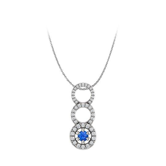 Preload https://img-static.tradesy.com/item/23999997/blue-sapphire-and-cubic-zirconia-graduated-circle-pendant-necklace-0-0-540-540.jpg