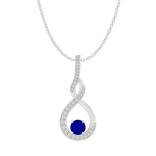 Preload https://img-static.tradesy.com/item/24000014/blue-sapphire-cz-infinity-style-pendant-925-sterling-silver-necklace-0-0-540-540.jpg