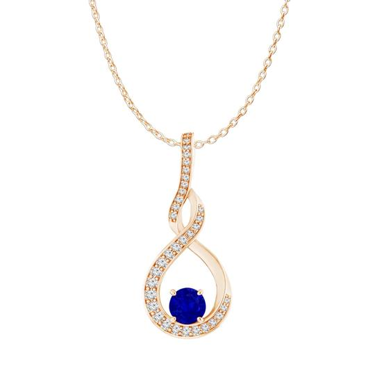 Preload https://img-static.tradesy.com/item/24000024/blue-sapphire-cz-infinity-style-pendant-rose-gold-vermeil-necklace-0-0-540-540.jpg