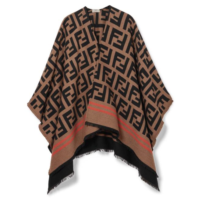 Preload https://img-static.tradesy.com/item/24000043/fendi-logo-jacquard-wool-silk-ponchocape-size-os-one-size-0-0-650-650.jpg