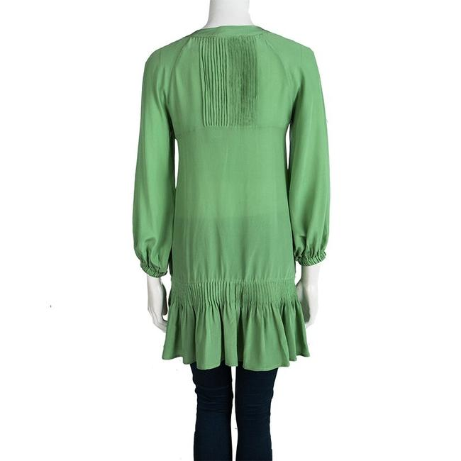 Ermanno Scervino Silk Detail Longsleeve Tunic Top Green