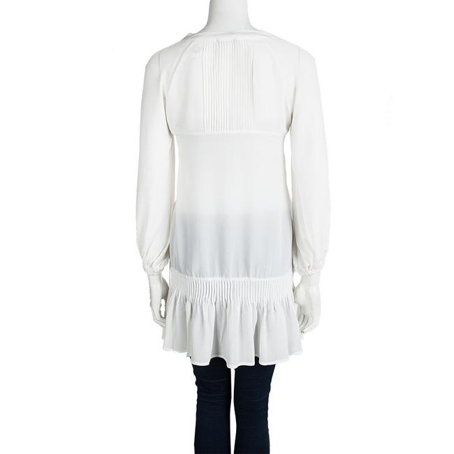 Ermanno Scervino Silk Detail Longsleeve Tunic Top White