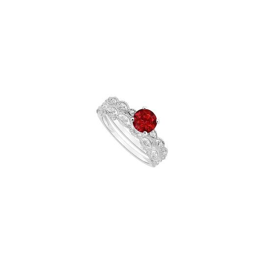 Preload https://img-static.tradesy.com/item/24000100/white-red-created-ruby-and-cubic-zirconia-engagement-with-wedding-band-set-ring-0-0-540-540.jpg