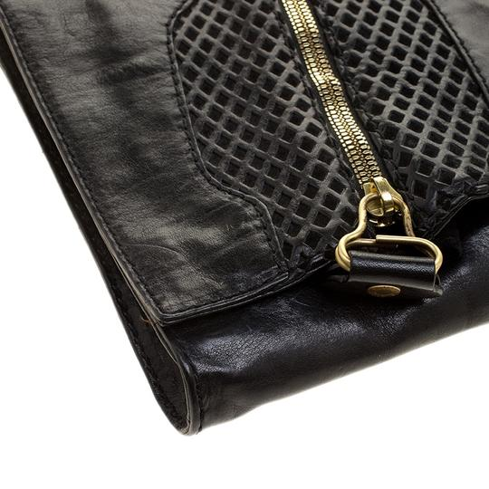 Jimmy Choo Perforated Leather Black Clutch