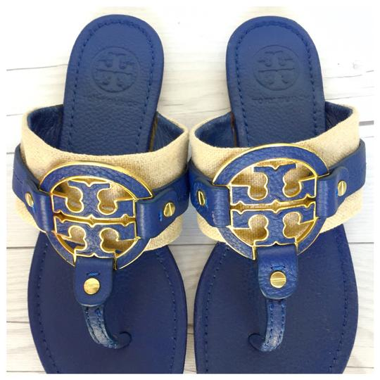 Preload https://img-static.tradesy.com/item/24000159/tory-burch-blue-amanda-miller-logo-leather-sandals-size-us-6-regular-m-b-0-2-540-540.jpg