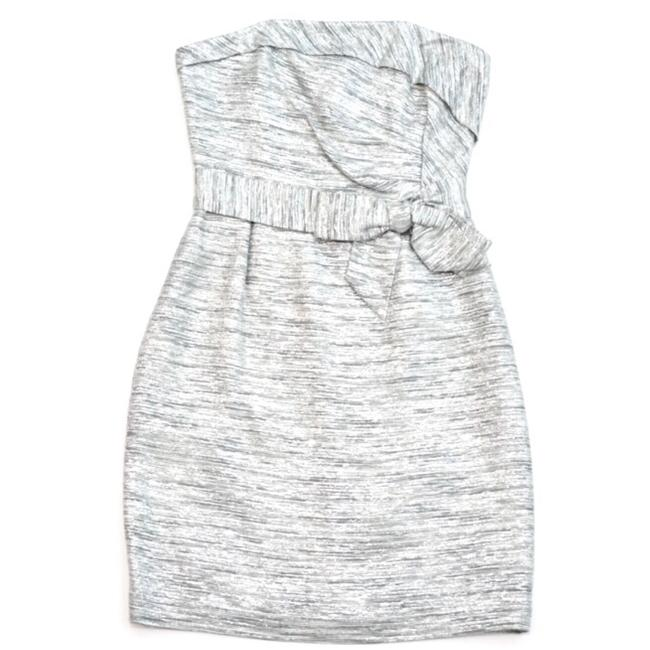 Item - Silver Kay Starlight Metallic Strapless Short Cocktail Dress Size 8 (M)