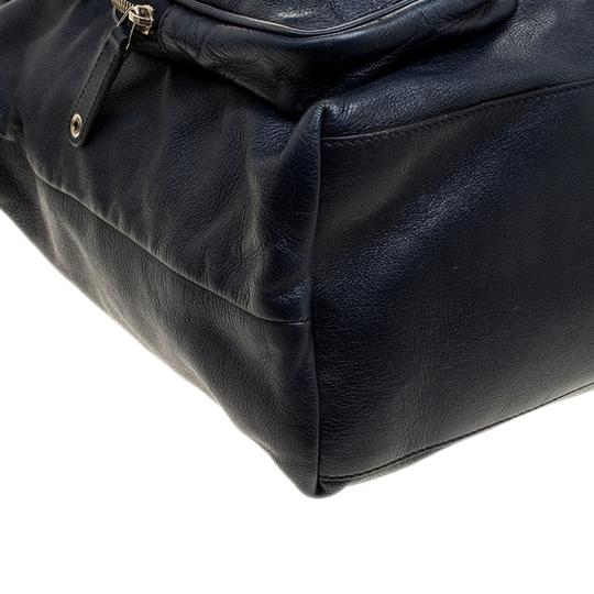 Gucci Leather Tote in Navy Blue