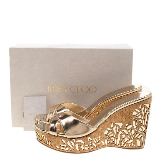 Jimmy Choo Patent Beige Sandals