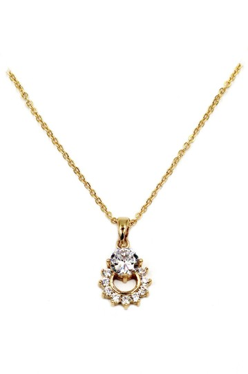 Preload https://img-static.tradesy.com/item/24000363/gold-925-crystal-delicate-clavicle-necklace-0-0-540-540.jpg