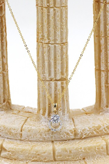 Ocean Fashion 925 Gold crystal delicate clavicle necklace