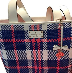 Kate Spade Satchel in blue/pink/white