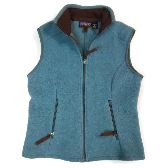 Item - Blue Green Synchilla Womens Small Fall/ Winter Zip Up Vest Size 6 (S)