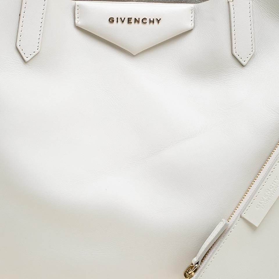 ab2be39339 Givenchy Large Antigona Shopping White Leather Tote - Tradesy