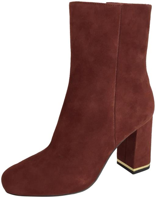 Item - Burgundy New Suede Ankle Boots/Booties Size US 7 Regular (M, B)
