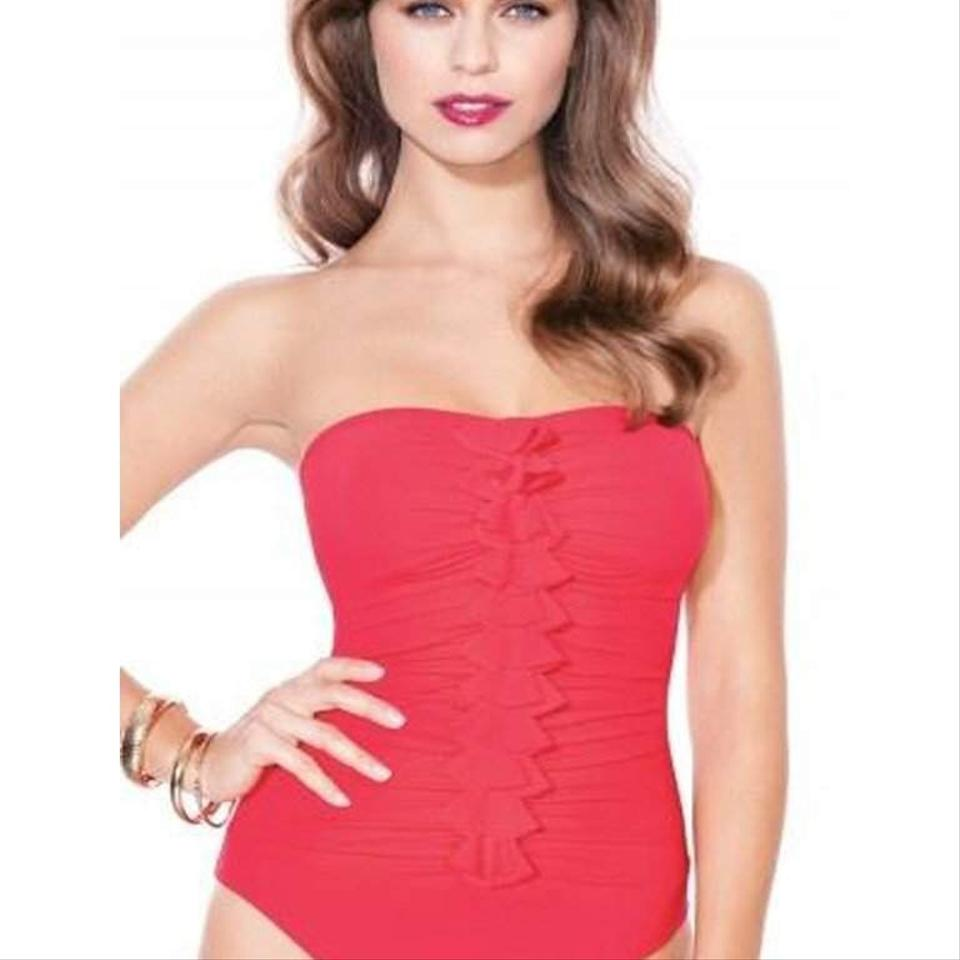 Profile by Gottex Red Rapture Swimsuit One-piece Bathing Suit Size 12 (L)  61% off retail