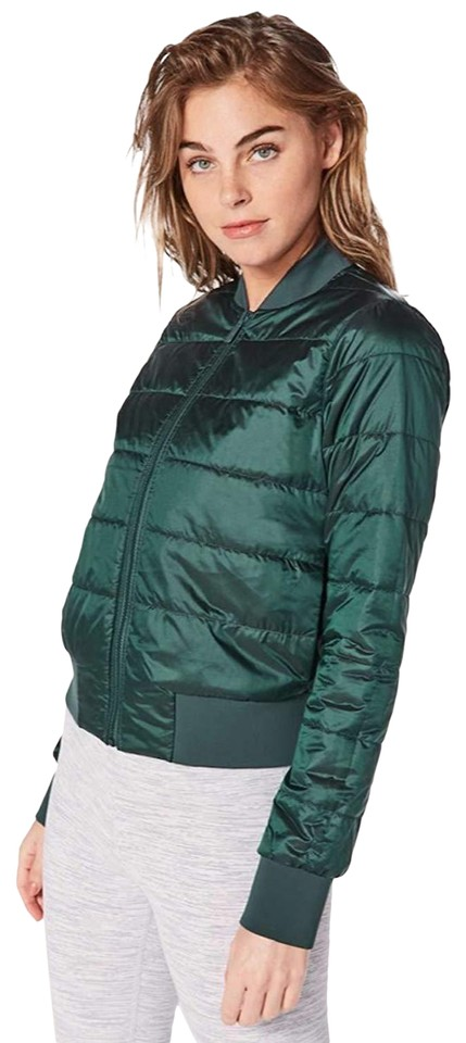 c218d0e02 Lululemon Teal Shadow / Mystic Green Non-stop Bomber Reversible Jacket  Shadow/Mystic Coat Size 8 (M)