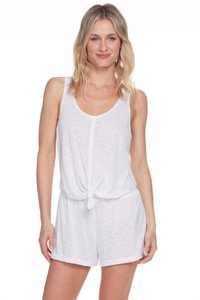 Becca by Rebecca Virtue Breezy Basics Knot Romper Swim Cover-Up