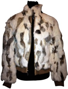 Wilsons Leather Real Jacket Rabbit Fur Coat