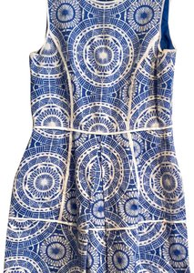 Taylor short dress blue and white on Tradesy