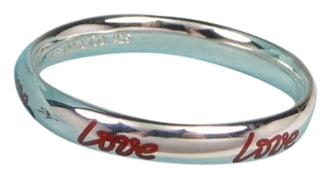 Item - Silver Red Graffiti Paloma Picasso's Style Love Ring—new Ring