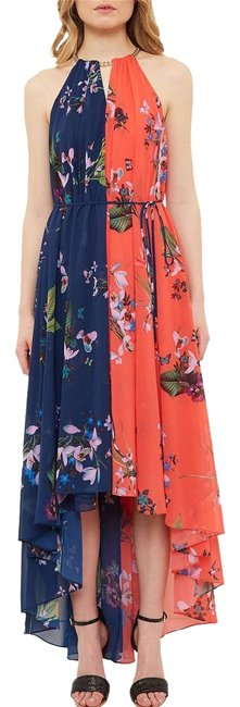 a2ab18f58652 Ted Baker Navy Hanie High-low Long Casual Maxi Dress Size 6 (S ...