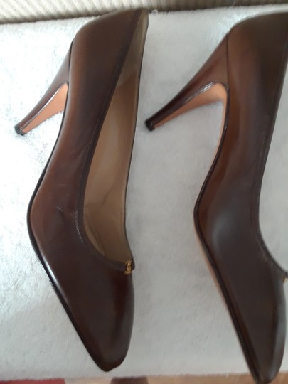 Gucci Leather Leather Brown Pumps