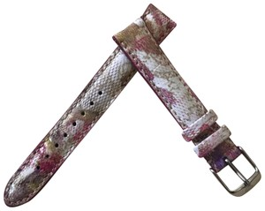 Michele 16mm Pink Floral Fashion Patent Leather watch Straps MS16AA350677