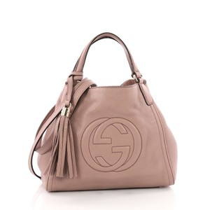 bd1a6f0a154 Added to Shopping Bag. Gucci Shoulder Hobo Bag. Gucci Shoulder Soho  Convertible Small Pink Leather ...