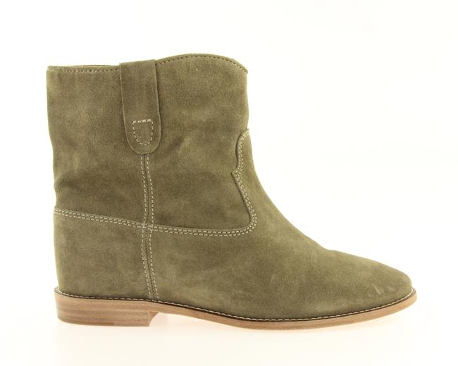 Item - Beige Taupe Suede Hidden Wedge Crisi Ankle Boots/Booties Size EU 39.5 (Approx. US 9.5) Regular (M, B)