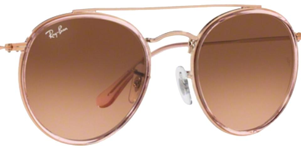 0130eb99ce Ray-Ban Pink- Bronze Cooper Round Double Bridge Sunglasses - Tradesy