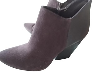 Crown Vintage Leather Suede Burgundy Boots