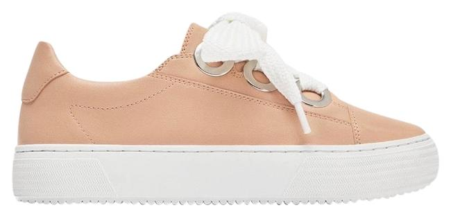 Item - Pink Sneakers with Grommets Details Flats Size US 7.5 Regular (M, B)