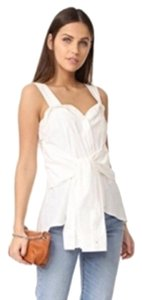 10 Crosby Derek Lam Sleeveless Cotton Basic Top White