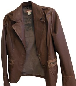 Max & Co. Tan Leather Jacket