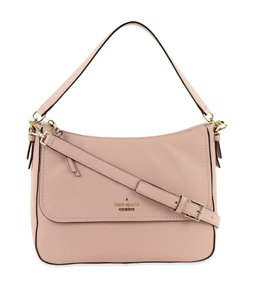 Kate Spade Colette Pebbled Leather Shoulder Small Satchel in Rosy Cheeks