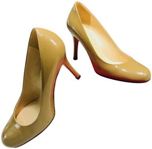 Kate Spade Color 6.5 Classic Leather Camel/Patent Pumps