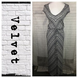White/Gray Maxi Dress by Velvet by Graham & Spencer