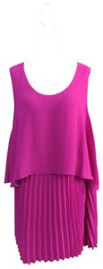Catherines Luxury Pleated Plus Size Top Pink