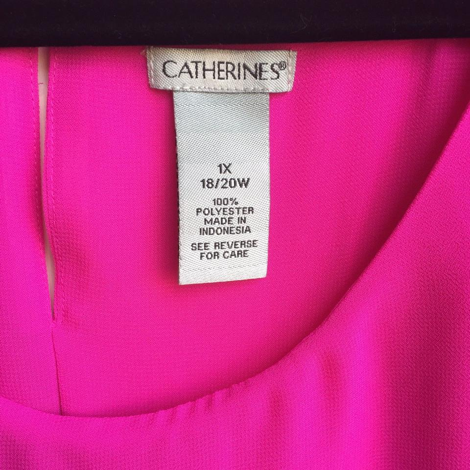 117b036a5fa87 Catherines Pink Georgette Pleated Blouse Size 20 (Plus 1x) - Tradesy