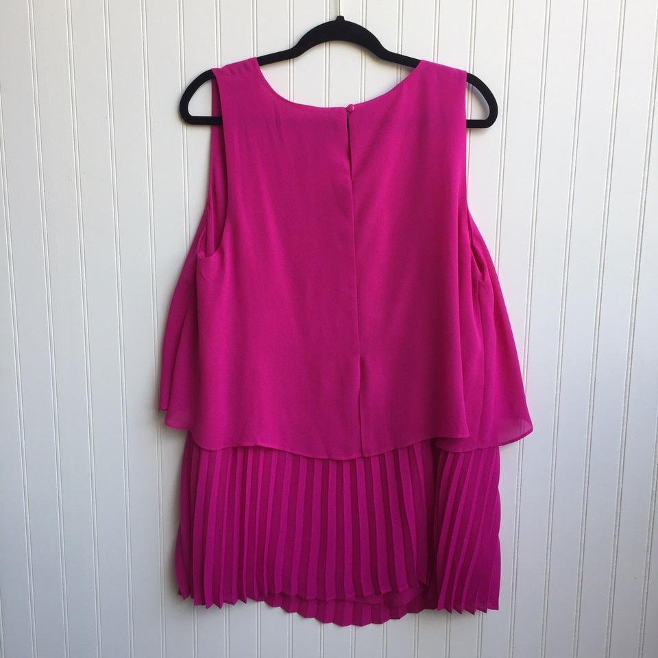 Catherines Pink Georgette Pleated Blouse Size 20 Plus 1x Tradesy