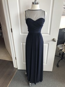 Amsale Navy G872 Modern Bridesmaid/Mob Dress Size 4 (S)