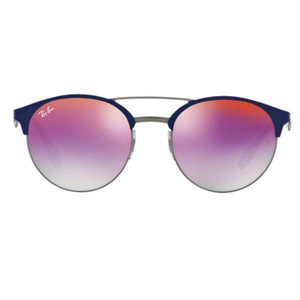 Ray-Ban Round Unisex RB3545 9005A9 Metal Mirrored Lens Sunglasses