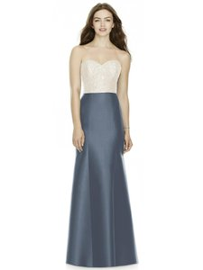 Alfred Sung Ivory Top and Onyx Skirt Bb105 Formal Bridesmaid/Mob Dress Size 12 (L)