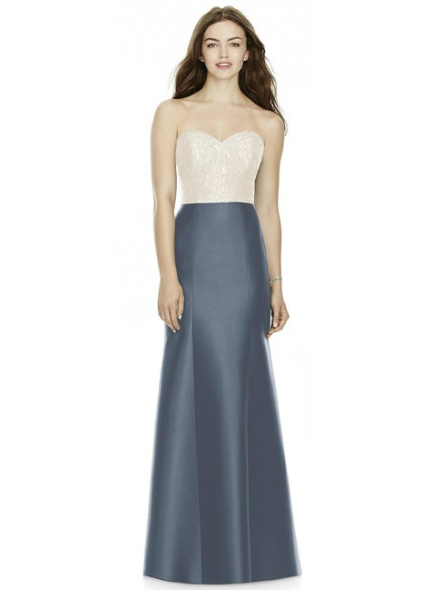 Item - Ivory Top and Onyx Skirt Bb105 Formal Bridesmaid/Mob Dress Size 12 (L)