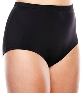 Maxine of Hollywood SWIMSUIT BOTTOM 24W FULL COVERAGE BLACK SLIMMING PANEL IN FRON T