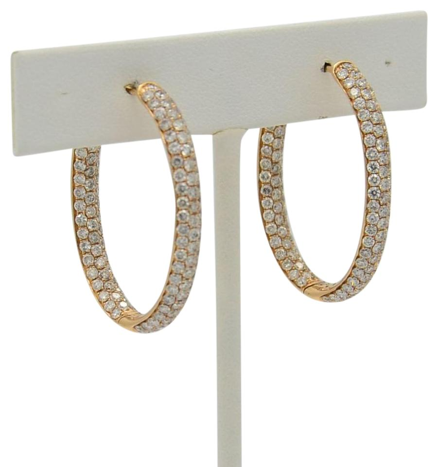 Rose Gold 18k Oval Shaped Hoops Earrings - Tradesy 142743dccadf